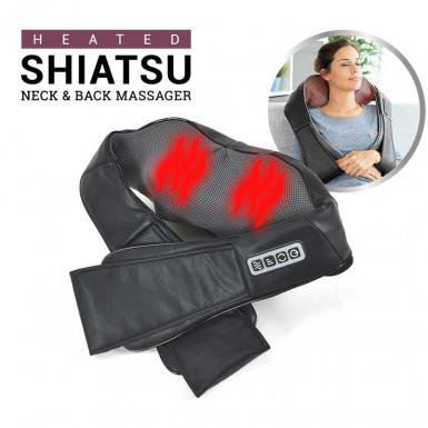 Heated Shiatsu Massager - shiatsu massage for neck, shoulders and back with heating function