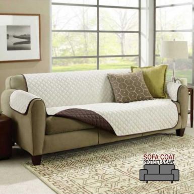 Sofa Coat Protect & Save - cuvertura reversibila protectoare pentru canapea de 3 locuri