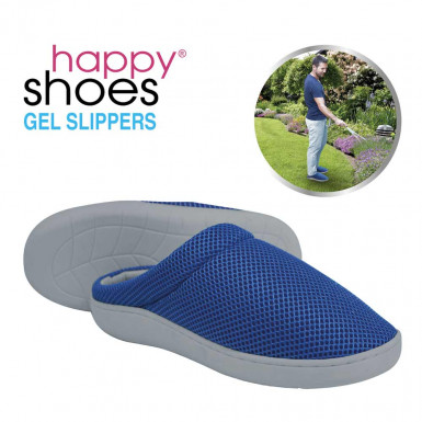 Happy Shoes Gel Slippers - papuci de casa anatomici cu bambus si talpa din gel