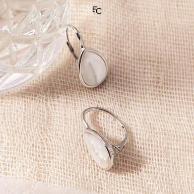 Cercei din Argint 925 cu perle Mother of Pearls (IS00055-02-1476)