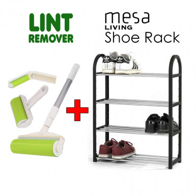 Promo Pack: Lint Remover + Mesa Living Shoe Rack
