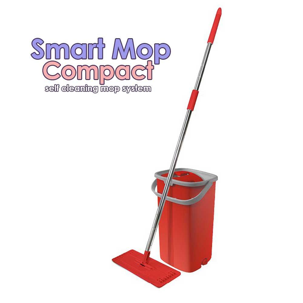 Smart Mop Compact - sistem de curatare cu doua recipiente separate si capete din microfibra