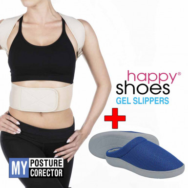 Promo Pack: My Posture Corrector + Happy Shoes Gel Slippers