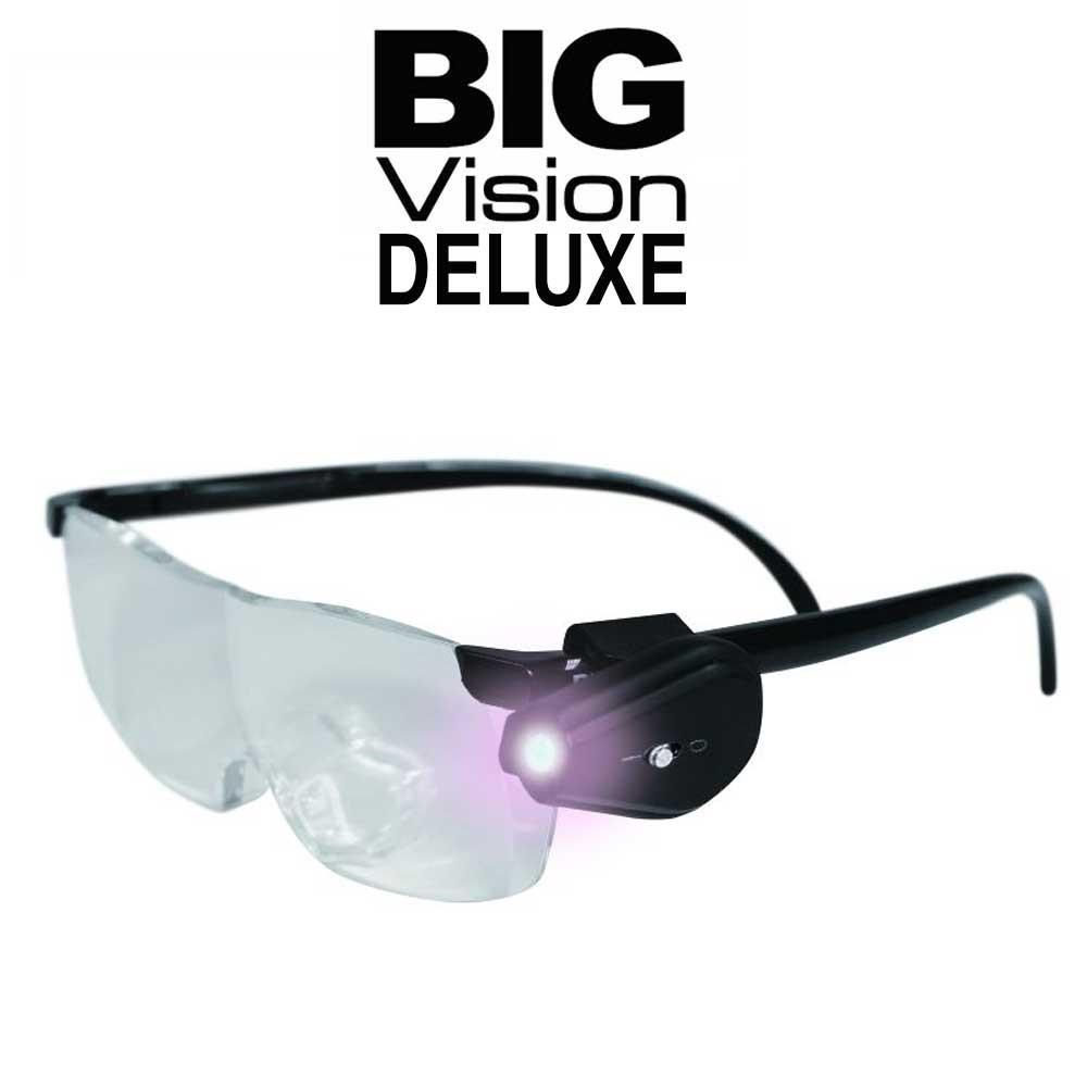 Big Vision Deluxe - ochelari lupa cu marire 160% si lumina LED