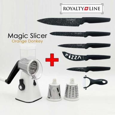 Pachet Promo: Magic Slicer + Royalty Line knives set