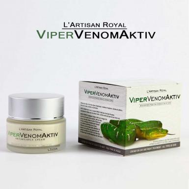 ViperVenomAktiv - crema de fata pentru riduri cu venin sintetic de sarpe