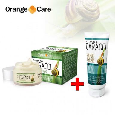 Pachet Promo: Baba de Caracol crema de fata + crema de maini cu extract de melc