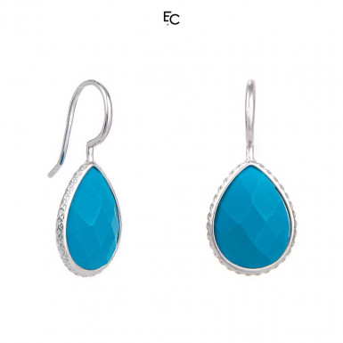 Sterling Silver Earrings with Turquoise (02-1306BLU)