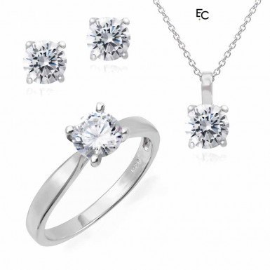 Set in sterling silver with Zircon stones (01-2491WHT)